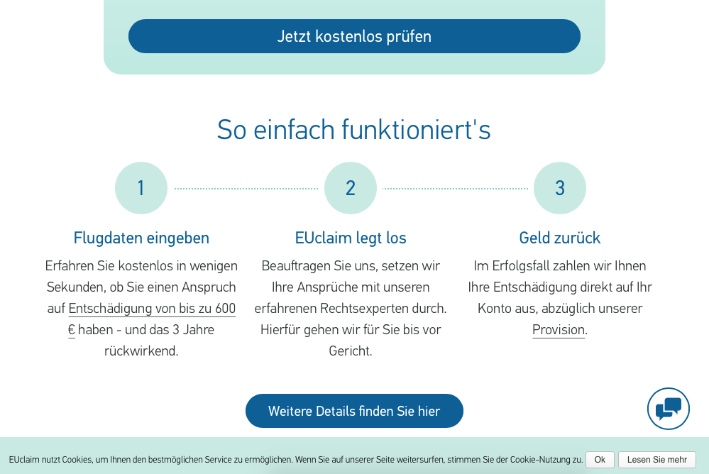 So funktioniert EUclaim